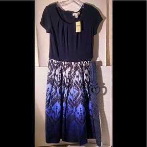 Coldwater Creek Partially Woven Knit Dress New